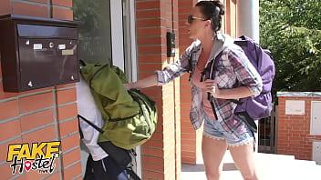 Fake Hostel Cheating Boyfriend Fucks Teen Backpacker With Girlfriend In Next Room