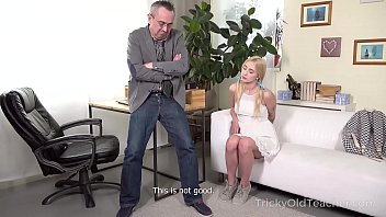 Tricky Old Teacher - Cute blonde works hard to get education thumbnail