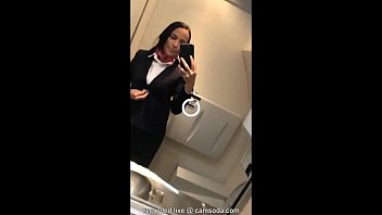Flight attendant uses in-flight wifi to cam on camsoda! thumbnail