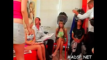 A group of lustful gals are delighted to ride some hung lads
