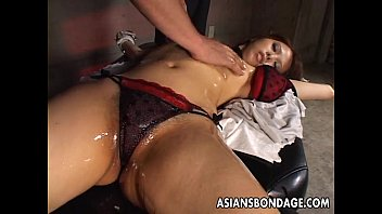Ravishing Japanese brunette enjoys smutty bondage sex thumbnail