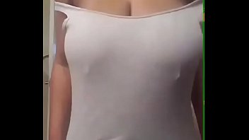 Desi Indian Girl Sangita Playing With Her boobs