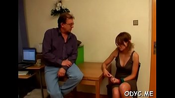 Youthful hottie gets seduces by a much mature gentleman