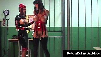Prison Guard RubberDoll Spanks & Doms Inmate Megan Jones!