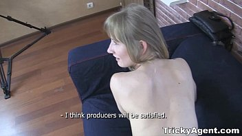 Blonde teen strips for interview - Tricky agent - a blond student sonja teen-porn is looking for some cash