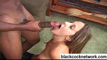 Mandingo interracial blowjob