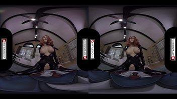 Xxx virtual worlds Vrcosplayx.com black widow rides your cock