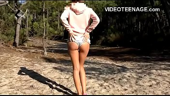 Amateur public nudity videos - Teens do porn at beach