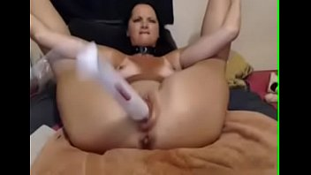 Brunette MILF Puts Her Legs Behind Her Head and Toys Her Wet Pussy