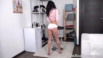 Brunette Spinner Nika Charming Loses Anal Virginity