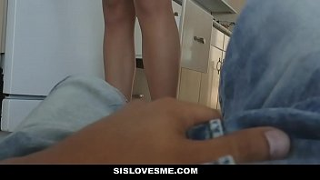SisLovesMe - Teen Caught Sucking Her Brothers Cock
