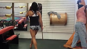 Corporal punishment femdom - Mikaelas most extreme punishment - worthless alive target for fighters whip