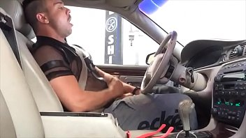 Man caught jerking off in the car