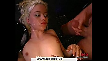 Young girl cum faces Tiny young blondie gets her pretty face covered with man juice