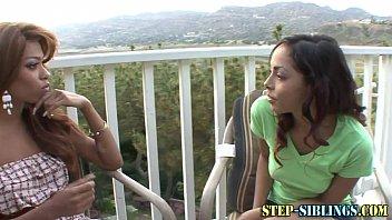 Teen ebony steples licks