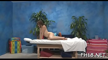 Cute 18 year old girl gets drilled hard by her massagist