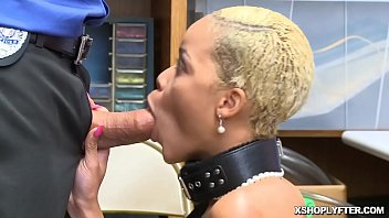 Ebony shoplyfter receives a cock from behind as she bend over!