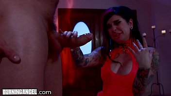 Red Latex on Alt Goddess Joanna Angel for Passionate Big Cock Sex