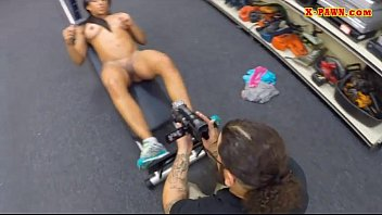 Gym trainer sells her equipment and fuck