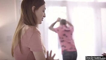 Home alone teen analed by perv neighbour