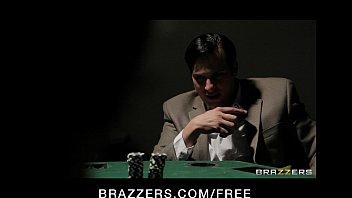Horny brunette wife in lingerie fucks to pay husband's poker debt thumbnail