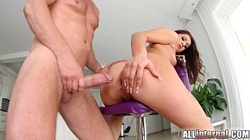 Allinternal Cindy Bubble drips cum from her anal creampie