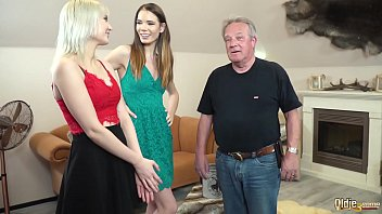 Best Old And Young Fuck Grandpa Getting His Cock Sucked By Teen Girls