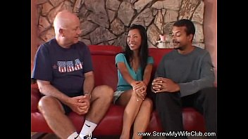 Fisrt time swinging - Interracial swing time