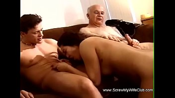 Two wifes having sex Two man enjoys having sex with a woman