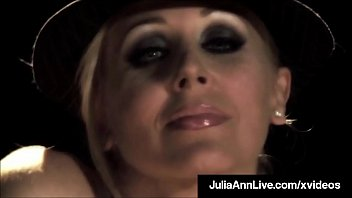 Magnificent Milf Julia Ann Smokes & Milks A Cock On Stage!