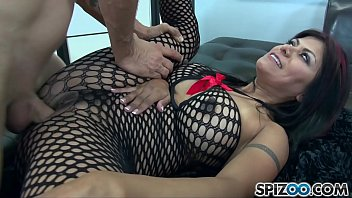 Spizoo - Gabby Quinteros in a hardcore Gang Bang, monster cock, big tits & big booty