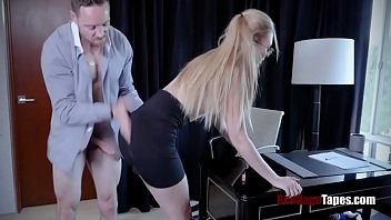 Secretary Choked By Boss's Cock- Alexa Grace
