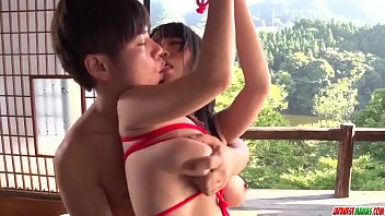 Rina Mayuzumi in sweet bondage with a younger male - More at Japanesemamas com