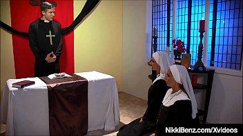 Horny School Girls Nikki Benz &amp_ Jessica Jaymes Fuck Priest?