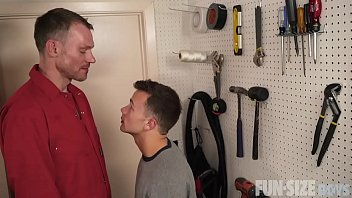 FunSizeBoys - Tiny twink fucked after being seduced by tall handyman