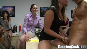 Dancingcock Group Office Blowing Orgy