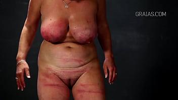 Slim girl caned