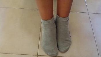 perfect small feet in socks