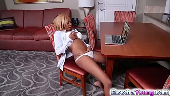 Teen fucked and cunning Horny ebony diamond monrow craves for a big dick