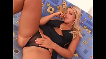Blond MILF Dara takes black cock in her mouth and in her tight ass
