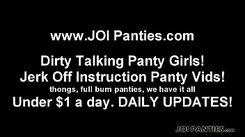 This thong barely covers anything JOI
