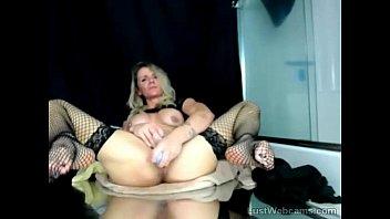 stockings webcams Blonde MILF toys herself on webcam