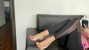 I Fucked Her Cute Feet - TheFoxxxLife - Footjob, Cumshot