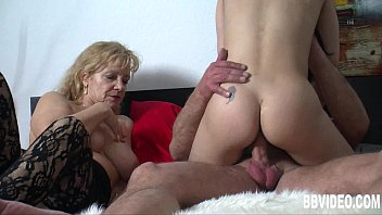 Busty german whore fuck in threesome
