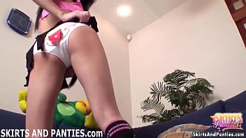 Let my lift up my cheerleader micro skirt for you