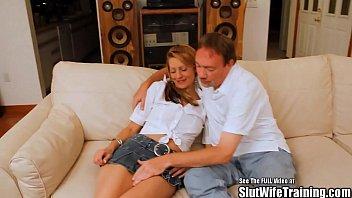 Big dick dvd - Skinny blonde slut wife fucked on dvd