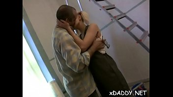 Horny older man cheated on his wife with a slutty teen