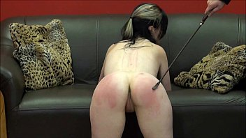 Severe spank Faes bare ass spanking and corporal punishment of striped amateur slave in sever