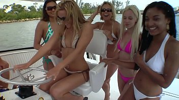 Lesbian orgy on the yacht