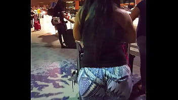 Candid Round Bubble Butt Latina at Airport